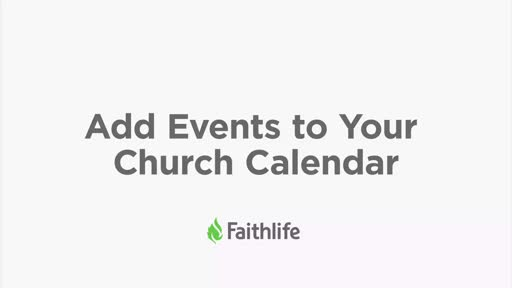 Add Events To Your Church Calendar
