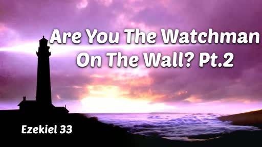 Are You The Watchman On The Wall? Pt.2