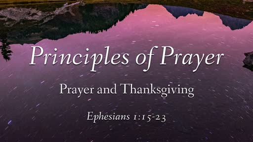 Prayer and Thanksgiving