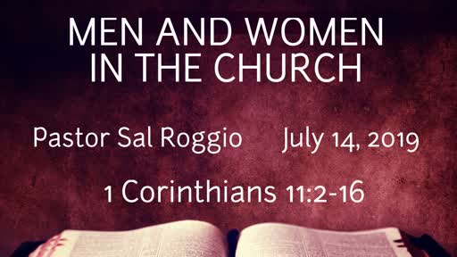 July 14, 2019: Men and Women in the Church