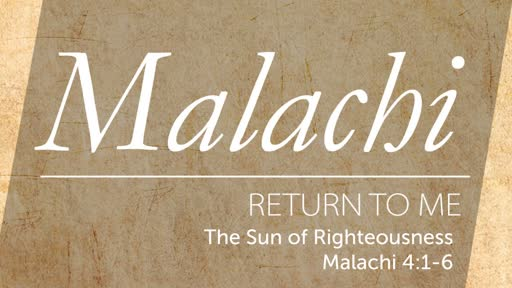 Sunday, July 14 - AM - Jack Caron - The Sun of Righteousness