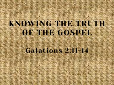 Galatians 2:11-14