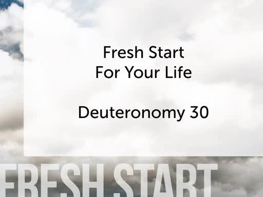 Fresh Start For Your Life