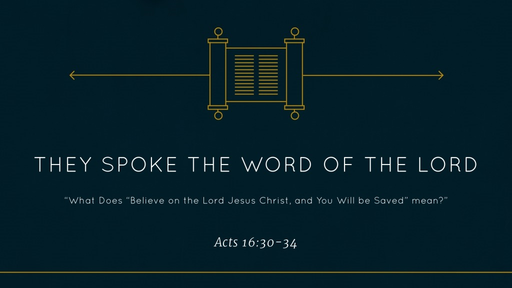 They Spoke the Word of the Lord