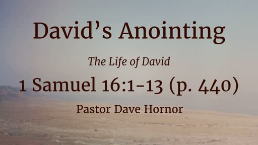 David's Anointing