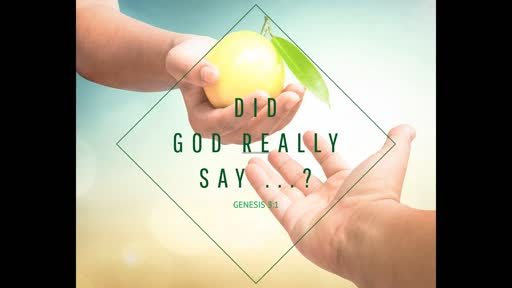 Did God Really Say...?