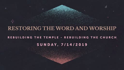 7/14/2019 Restoring the Word and Worship