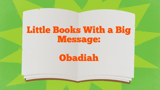 Little Books With a Big Message: Obadiah