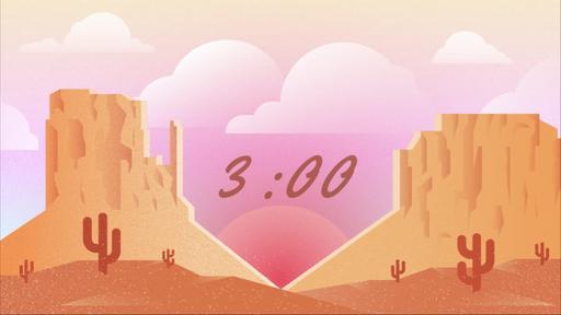 Desert Valentine's Day - Countdown 3 min