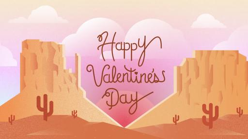 Desert Valentine's Day - HappyVday