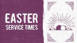 He is Risen easter service times 16x9 PowerPoint Photoshop image