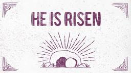 He is Risen 16x9 PowerPoint Photoshop image