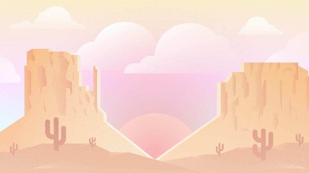 Desert Valentine's Day large preview