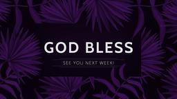 Lent god bless 16x9 PowerPoint Photoshop image