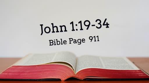 John 1:19-34 'Revealed: God's Chosen One'