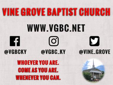 VGBS Service July 21st 2019