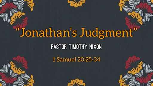 Jonathan's Judgement
