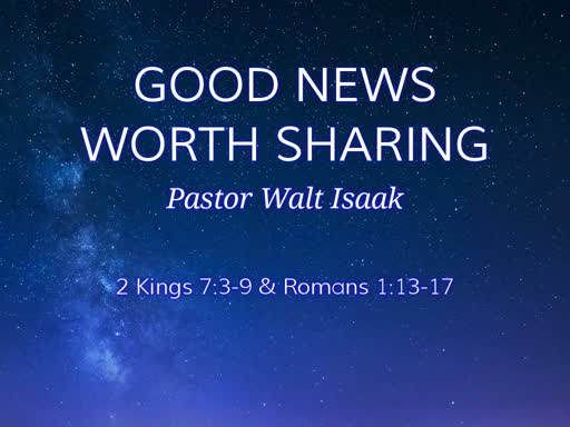 Good News Worth  Sharing