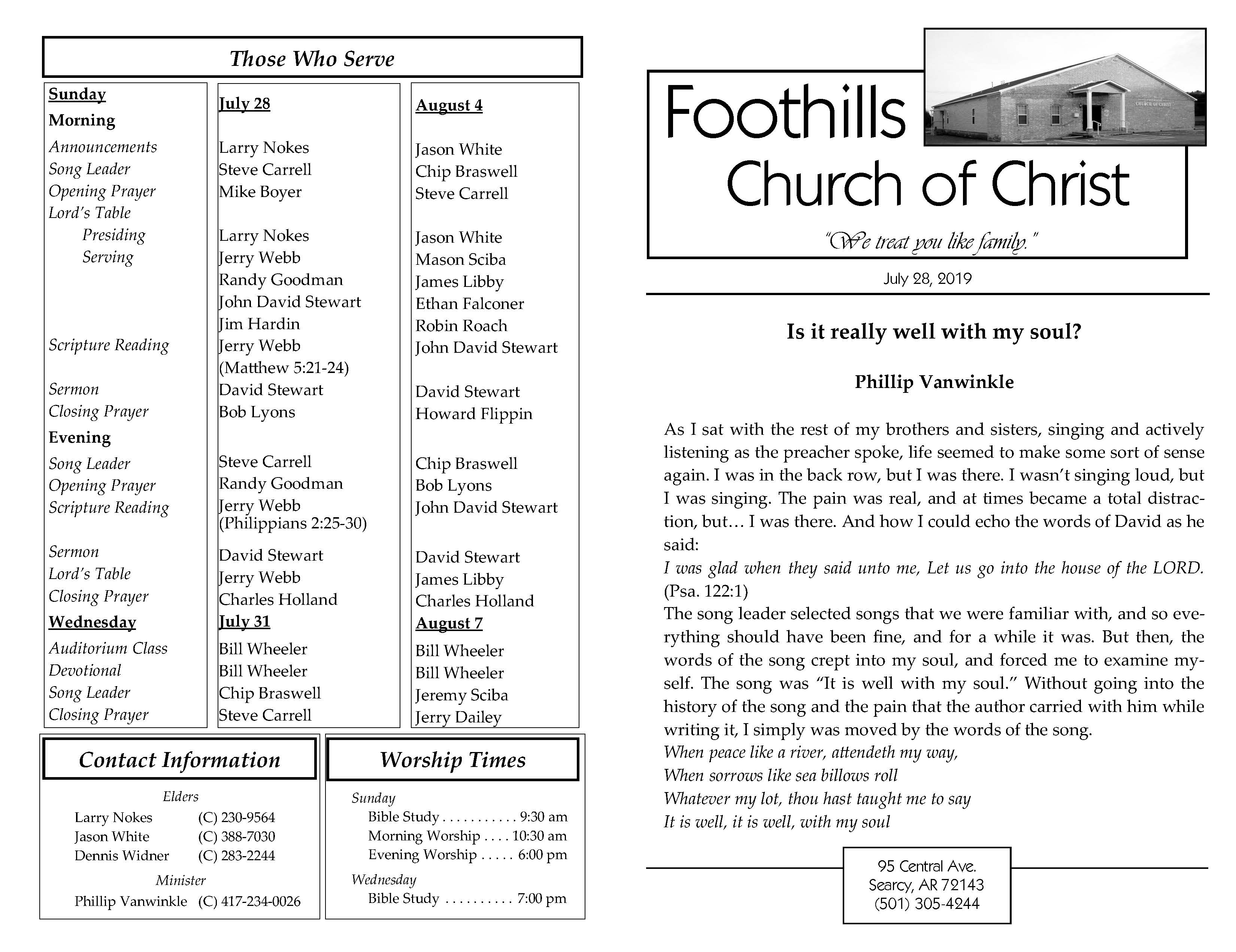 Foothills Bulletin 7.28.19 Page 1