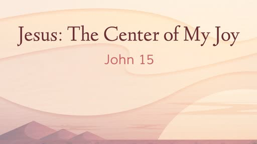 Jesus: The Center of My Joy
