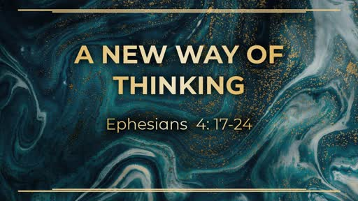 Week 8 - A new way of thinking