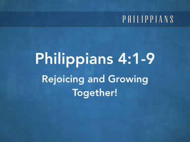 Rejoicing and Growing Together