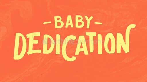 Baby Dedication Marble