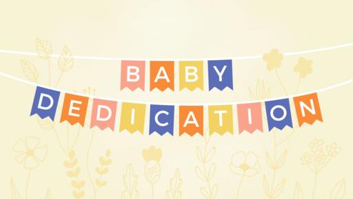 Baby Dedication Banner