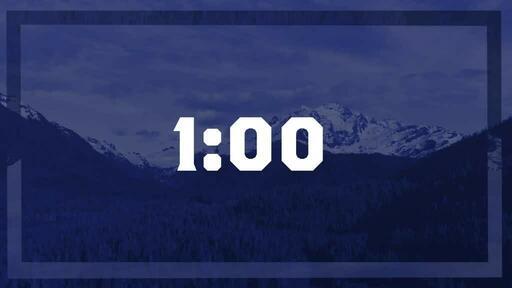 Blue Mountains Trees - Countdown 1 min