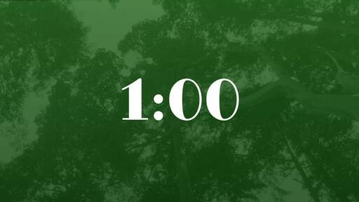 Green Trees - Countdown 1 min