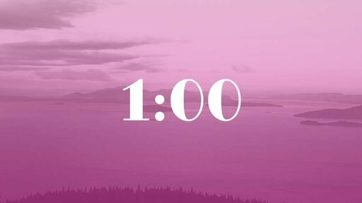 Pink Mountains - Countdown 1 min