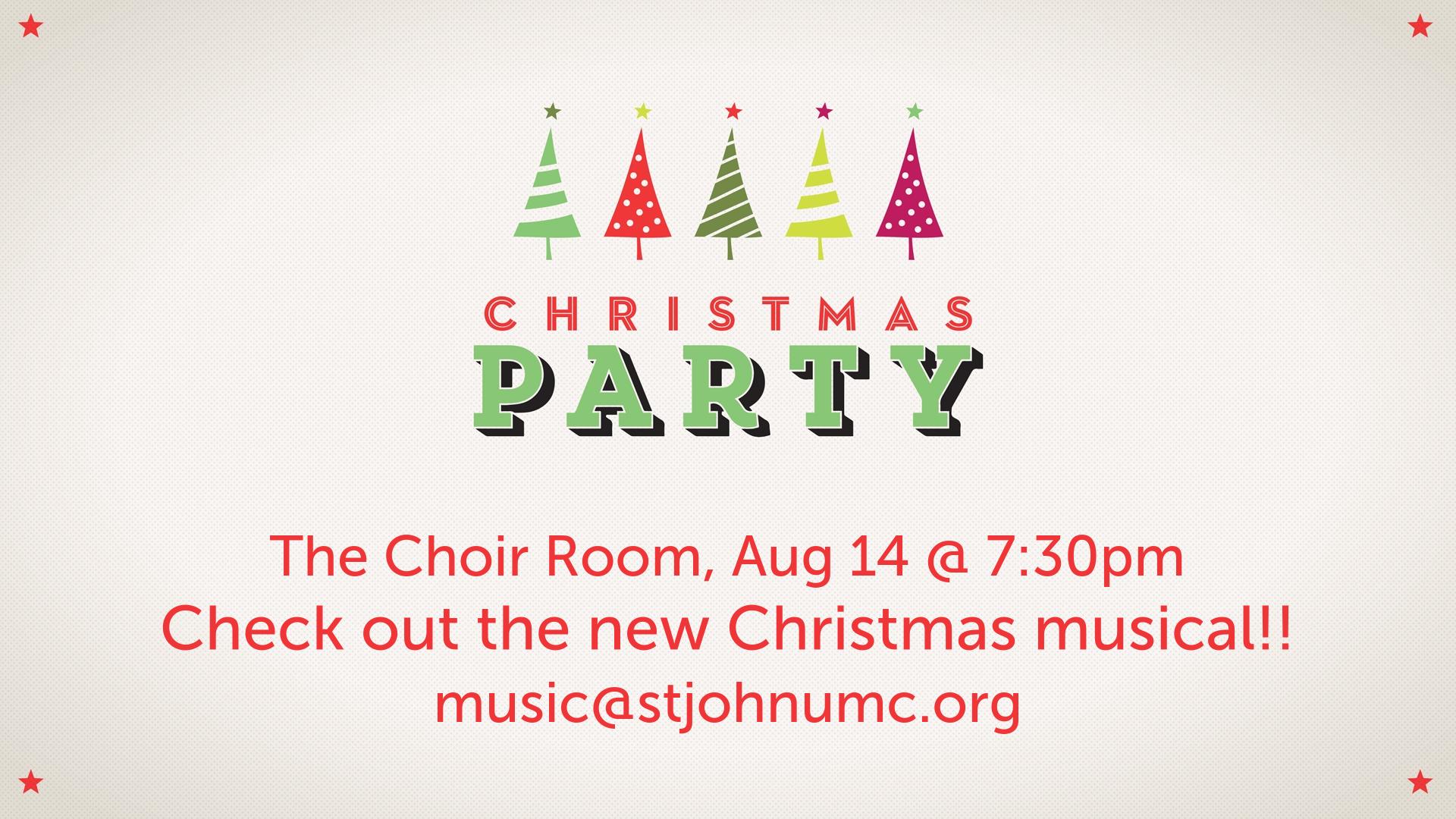 Choir Christmas Kickoff