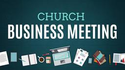 Illustrated Church Business Meeting 16x9 PowerPoint Photoshop image