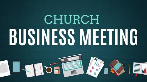 Illustrated Church Business Meeting