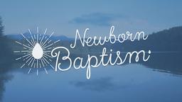 Newborn Baptism 16x9 PowerPoint Photoshop image