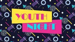 Retro Youth Group night 16x9 PowerPoint Photoshop image