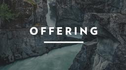 Waterfall Tithes and Offerings offering 16x9 PowerPoint Photoshop image