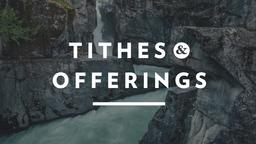 Waterfall Tithes and Offerings 16x9 PowerPoint Photoshop image