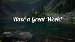 Rest for the Weary have a great week! 16x9 PowerPoint image