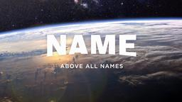 Name Above All Names header subheader 16x9 PowerPoint image