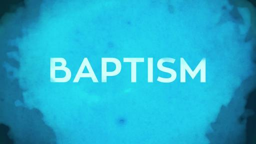 Watercolor Baptism - Watercolor Baptism Title