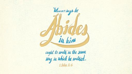 1 John 2:6 verse of the day image