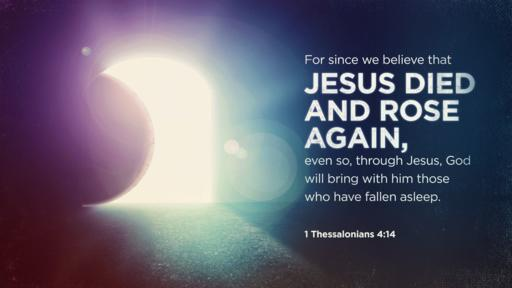 1 Thessalonians 4:14 verse of the day image