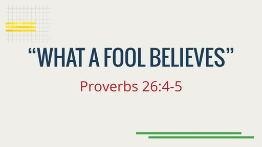 """What a Fool Believes"""