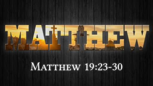Matthew 19:23-30