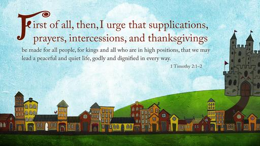 1 Timothy 2:1–2 verse of the day image