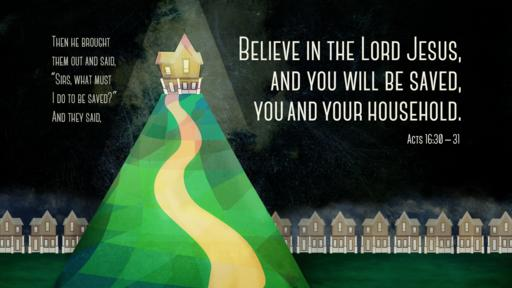 Acts 16:30–31 verse of the day image