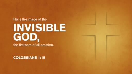 Colossians 1:15 verse of the day image