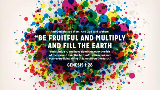 Genesis 1:28 verse of the day image