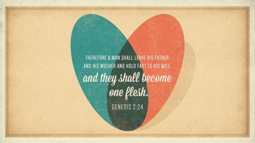 Genesis 2:24 verse of the day image